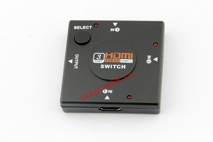 Bộ chia cổng tín hiệu HDMI 3IN – 1OUT